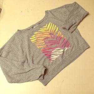 PINK Victoria's Secret cropped sweatshirt sz small